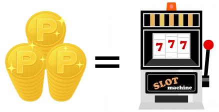 オンラインカジノで貯めたポイントやコインなどで購入できる