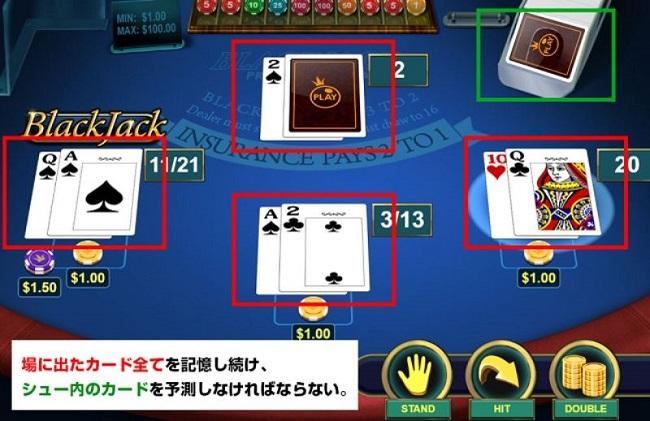 ブラックジャックのカードカウンティング方法